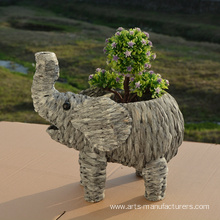 Water Hyacinth Elephat Shape Pot